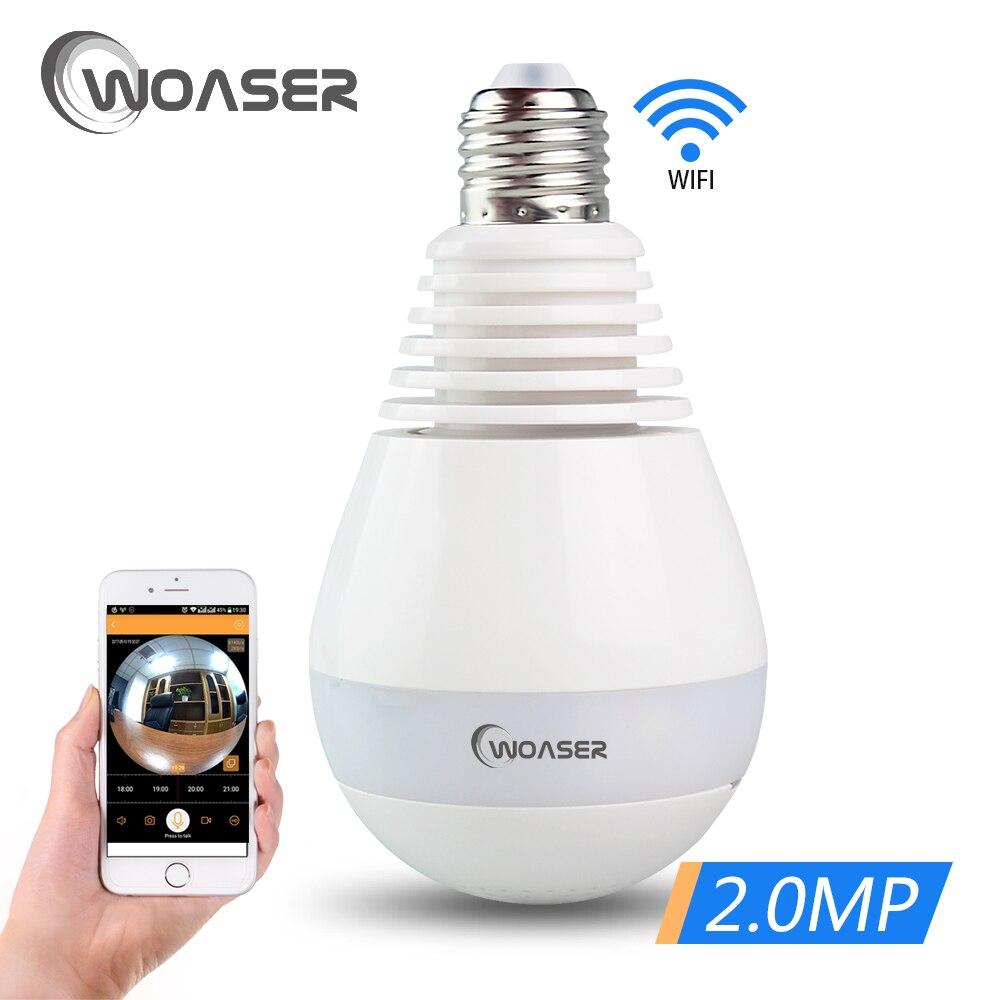 все цены на WOASER 960P Bulb Light Panoramic Wireless IP Camera Wi-fi FishEye 360 degree Mini CCTV VR Camera 1.3MP Home Security WiFi Camera