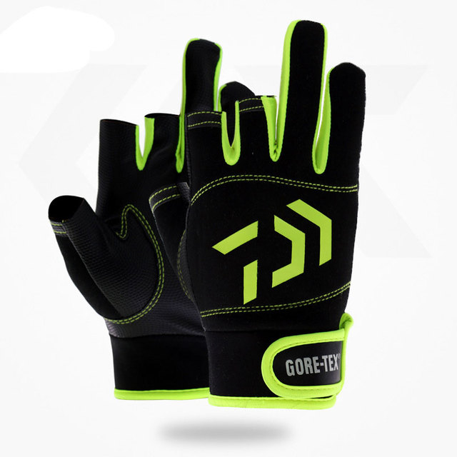Best Price 1 Pair Daiwa 3 Cut Finger Fishing Gloves Outdoor Sports Waterproof Hunting Gloves Pesca Fitness Carp Fishing Accessories