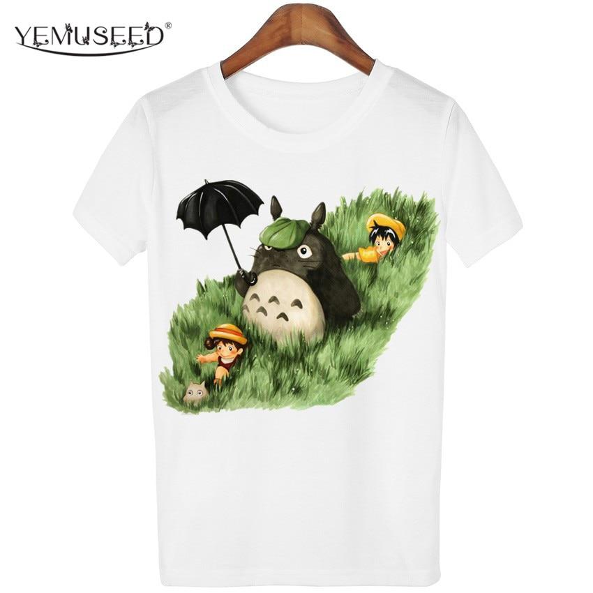 f0a3fd287 YEMUSEED New Cute Totoro T shirt Women Cartoon 3D Harajuku Casual Tops Tees  Blusa Plus Size