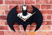Fashion DIY Wall Clock Batman 3D Watch Cartoon Sticker Home Decor