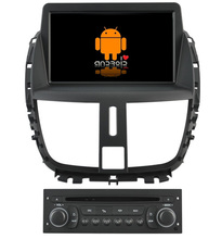 S160 Quad Core Android 4.4.4 car audio FOR PEUGEOT 207(2009-2011) (2013) car dvd player head device car multimedia car stereo