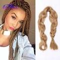 1~5Pcs/L 165g honey blonde Braiding Hair #27 Kanekalon Jumbo Braid Synthetic Hair Extensions For Afro Kinky Twist&Box Braid Hair