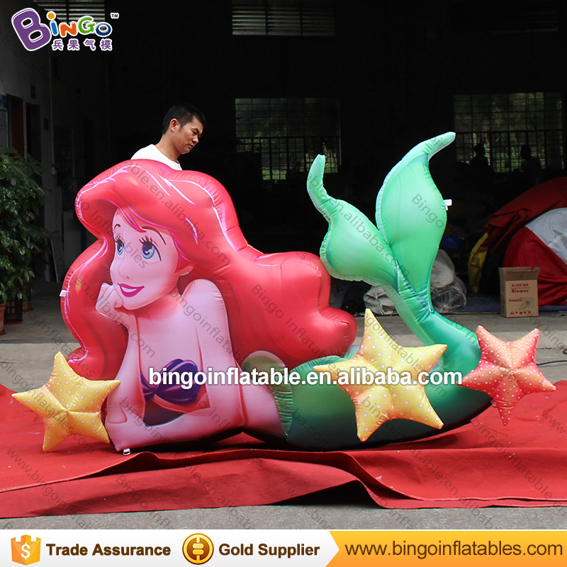 Hot sale Inflatable Mermaid Balloon giant Inflatable Mermaid Cartoon Character for Ocean theme decor party outdoor toy