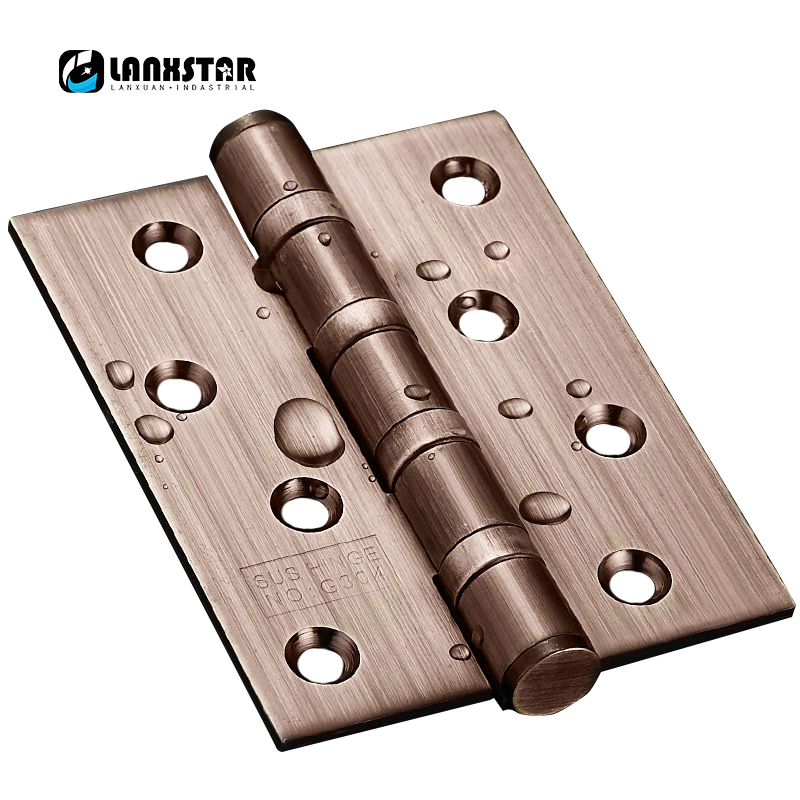 Real G304 Stainless Steel 4inch 3.0mm Thick  Wooden Door Hinges Super Silent Bearing Design Door-hinges