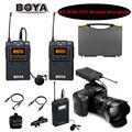 Boya by-wm6 ultra alta frecuencia uhf sistema de micrófono inalámbrico de solapa para dslr cámara grabadora de audio