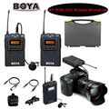 Boya by-wm6 ultra high frequency uhf sistema de microfone de lapela sem fio para dslr camera gravador de áudio