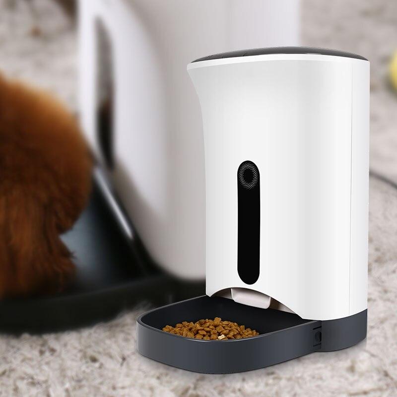 4.2L posiłek z wyświetlaczem LCD luksusowe średnie automatyczny podajnik karmy dla zwierząt domowych dla kotów i małych i średnich psów w Karmienie psów od Dom i ogród na  Grupa 1