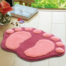 Sitting Room Sofa Tea Table Foot Print Carpet Kitchen Bedroom Bathroom Door Mat Mat Bibulous Lovely Big Foot Mat Bath Mat