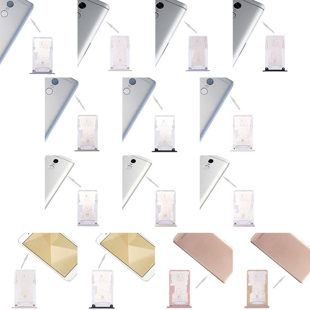 SIM Card Tray Dual Slot Holder Carrier Container Repair Part For Redmi 4/4X/4A/Note 4/Note 4X