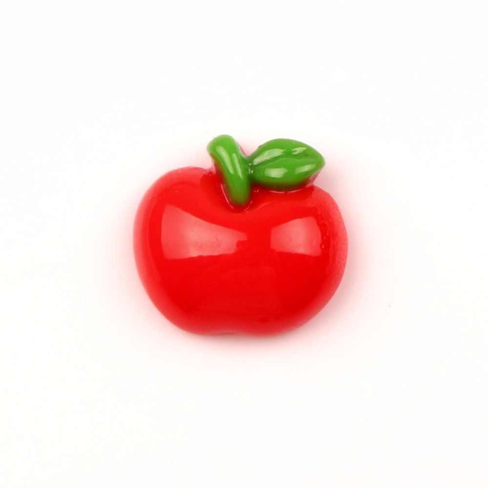 LF 30Pcs שרף אדום אפל קישוט מלאכות Flatback קישוטי קבושון רעיונות Kawaii חמוד Diy אביזרים