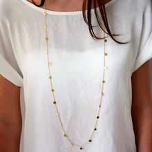 120cm Long Bohemia Trendy Women Jewelry Statement Necklace Personality Long Sequins Pendant Maxi Collar Chain XL546