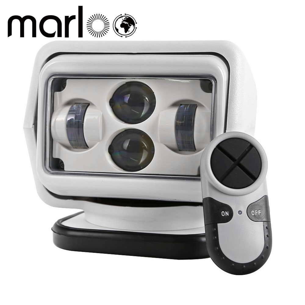 Marloo 7 60W LED Remote Control Searchlight LED Spotlight For 4X4 Marine Camping Boat Headlight 12v