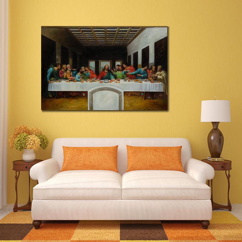 Famous Oil Painting Reproduction art The Last Supper By Leonardo Da ...