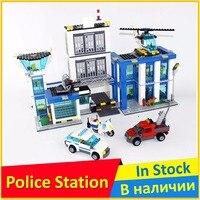 BELA 10424 Compatible Legoe City Figures Police Station 60047 Building Bricks Emma Mia Toys For Children