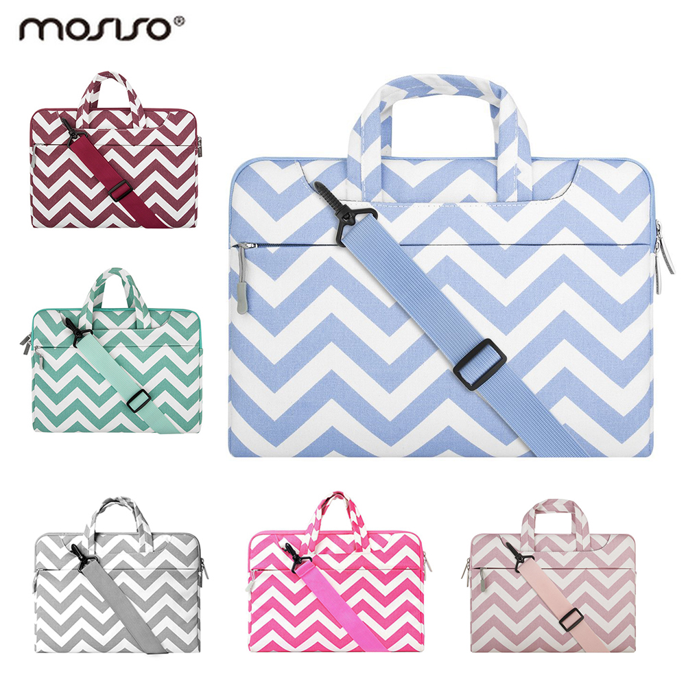 Mosiso Women Men Laptop Bag for MacBook Air Pro 13 15 Notebook 11.6 13.3 14 15.6 HP Asus Dell Acer Briefcase Sleeve