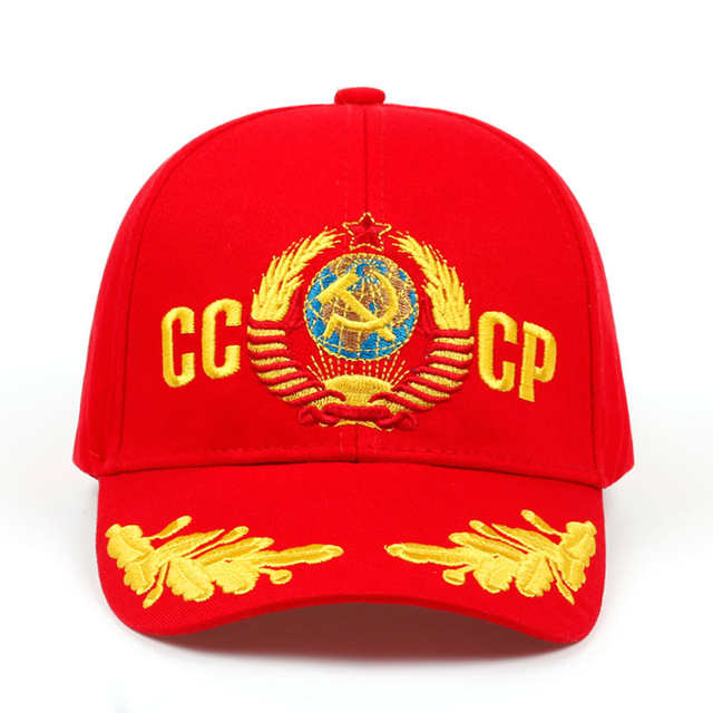 fe746346d 2019 CCCP USSR Russian Style Baseball Cap Unisex black Red cotton snapback  Cap with 3D embroidery Best quality hats