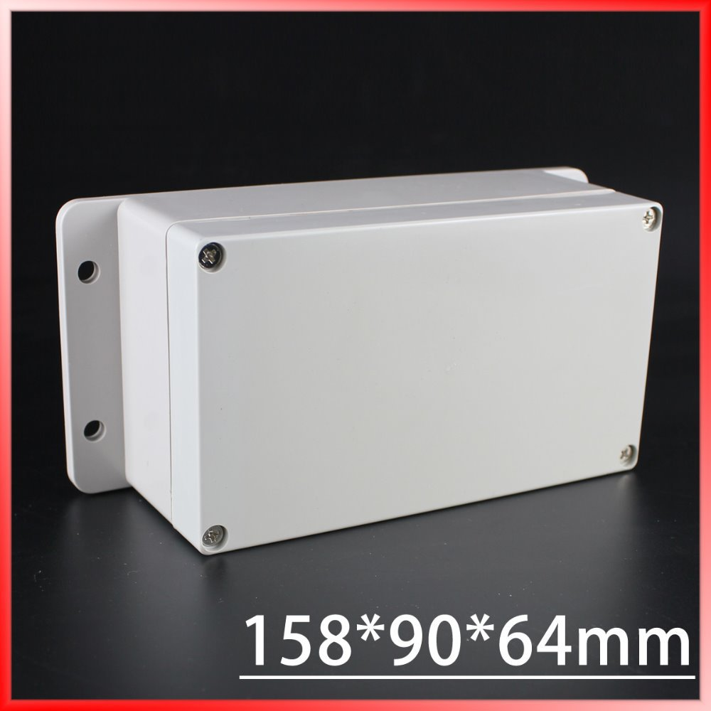 (1 piece/lot) 158*90*64mm Grey ABS Plastic IP65 Waterproof Enclosure PVC Junction Box Electronic Project Instrument Case 1 piece lot 160 110 90mm grey abs plastic ip65 waterproof enclosure pvc junction box electronic project instrument case