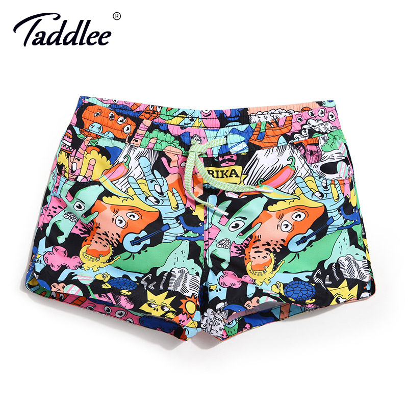 Taddlee Brand Women Beach   Board     Shorts   Boxer Trunks Swimwear Swimsuits Swimming Run Sports Trunks   Short   Bottoms Quick Drying New