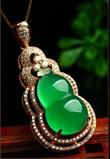 Fashion Pure 925 Sterling Silver Green Chinese 100% Natural /Jadeite Gourd Pendant With Certificate fashion pure 925 sterling silver green chinese 100% natural jadeite pendant with certificate