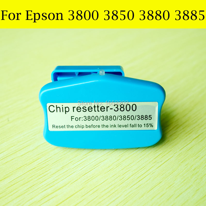 1 PC Best Chip Resetter For Epson 3800/3800c/3880 Printer Compatible Maintenance Ink Tank waste ink tank chip resetter for epson 9700 7700 7710 9710 printers maintenance tank chip reset