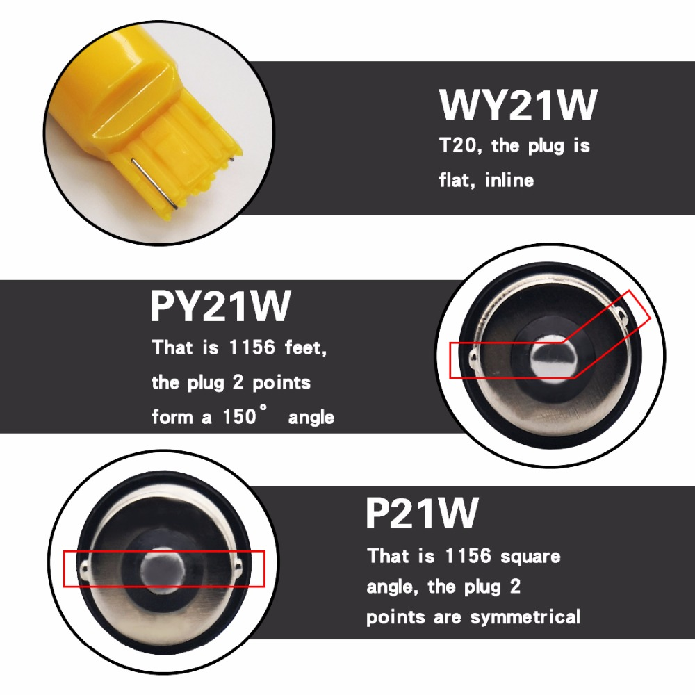 2 pcs Tail Light 1156 BAU15S PY21W LED Canbus Error Free BA15S P21W S25 3030 35SMD 2100lm Auto Reverse Lamp DRL Rear Bulbs Amber in Signal Lamp from Automobiles Motorcycles