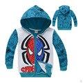 2016 Capa de Los Niños de Los hoodies y sudaderas aututmn Spiderman Bordado Chaquetas Con Capucha Niños de Dibujos Animados Ropa de Bebé Niños