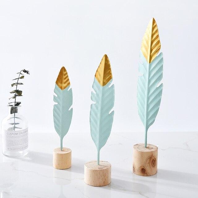 Us 2241 10 Offins Nordic Styl Kreatywny żelaza Art Feather Dekoracji Salonu Sypialni Dekoracji Fotografowania Rekwizyty Artykuły Wyposażenia