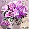 Zozack DMC DIY New Living Room House Precision Printing Cotton Cross Stitch Kits Embroidered Purple Roses