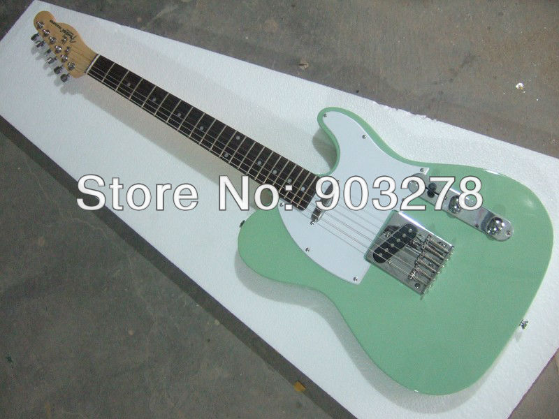 Custom shop, customsize guitar, New arrival light green Electric Guitar    t25 free shipping new lp custom shop left hand electric guitar green burst color oem brand guitar in china
