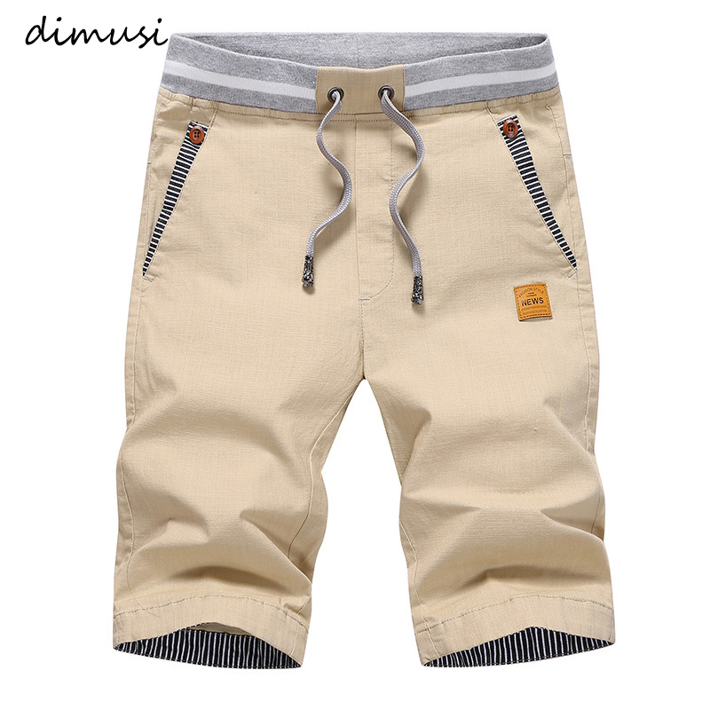 DIMUSI Summer Cargo   Shorts   Mens Casual Elastic Waist Cotton Beach   Shorts   Male Fashion Breathable   Shorts   homme Clothing 4XL,YA869