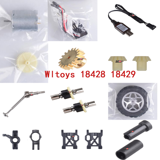 Wltoys 18428 18429 Rc Car spare parts motor gear receiver differential  wheel drive shaft etc
