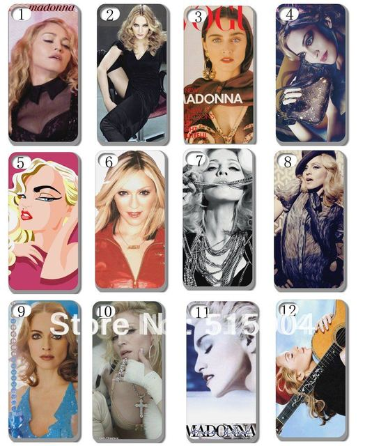 New Madonna  Case Hard Back Cover For Iphone 4 4s 4g 8PCS/lot+free Shipping