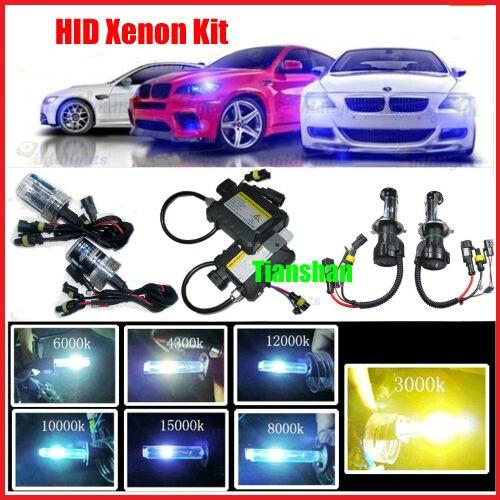 Hid Headlights 3000K Yellow Fog Light Bulbs Kit Xenon H1 H3 H7 H8 H9 H10 H119005 HB3 9006 HB4 880 881 H4 1