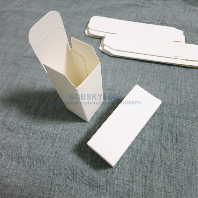 3.1x3.1x8.3cm Black White Kraft Paper Box for sample cosmetics perfume esential oil sprays gift box 100pcs 4