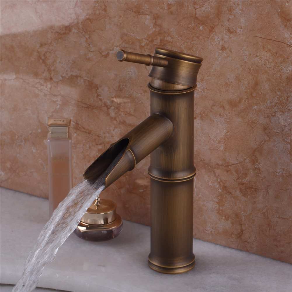 e pak Short Hot/Cold Water Antique Brass Bathroom Single Handle Wash ...