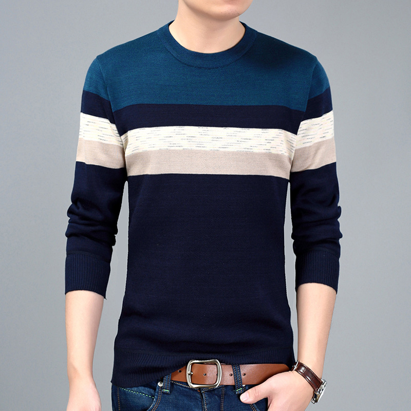YXL6618 Factory Direct Sales Fashion Casual O-Neck Pullover Sweater Autumn 2018 High-quality Soft Comfortable Sweater Men M-XXXL