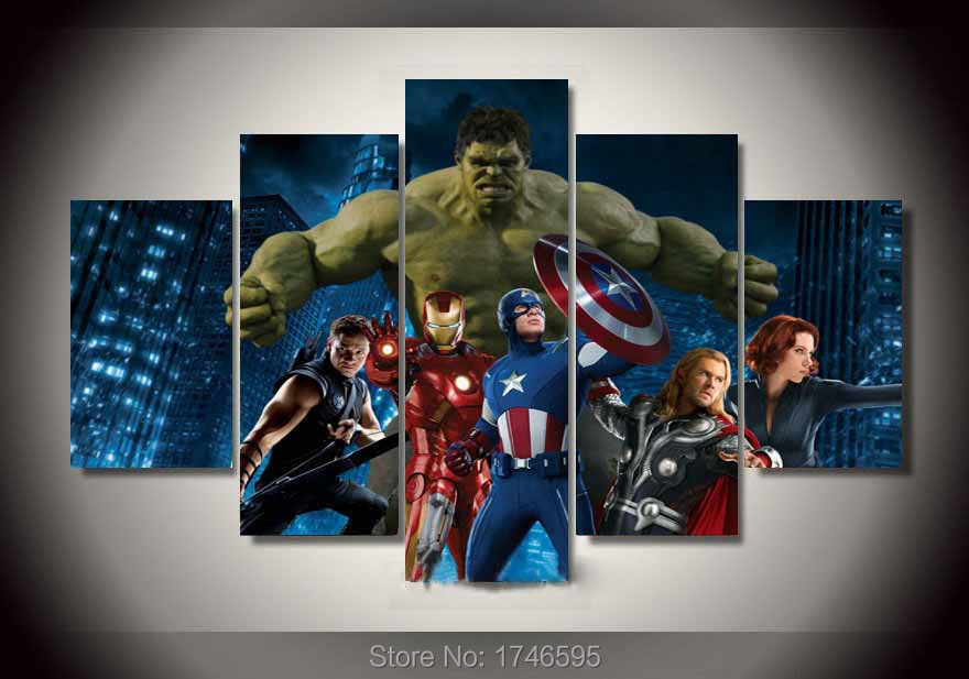popular avengers prints-buy cheap avengers prints lots from china