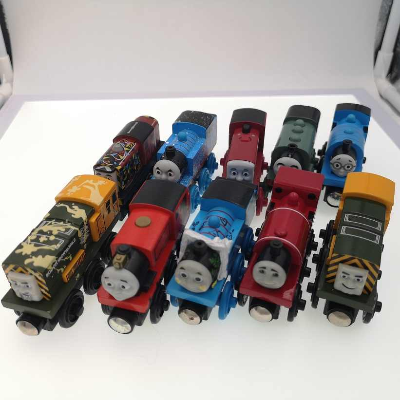 RARE Wooden Trains Magnetic  Engine Trains Compatible with BRIO Tracks Railway