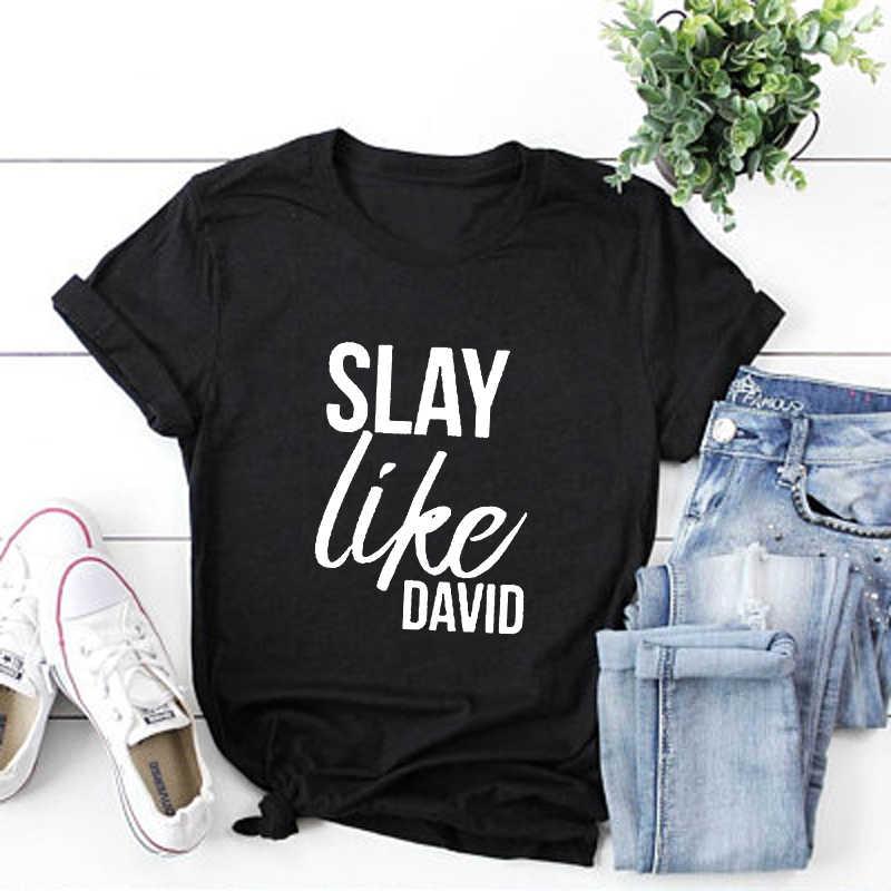 夏スタイルホット販売ユニセックス綿シャツ殺すようデビッドクリスチャン Tシャツ女性のためのシャツ聖書詩シャツトップ