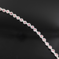 10Yards Crystal Manual Rhinestones Trim Ribbon Metal Chain For Dress,Bag,Shoes Accessories