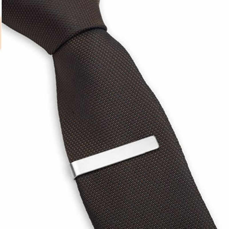 8Seasons New Fashion Stainless Steel Tie Clip Black Silver Metal Necktie Tie For Men Party Business Simple Jewelry Accessories