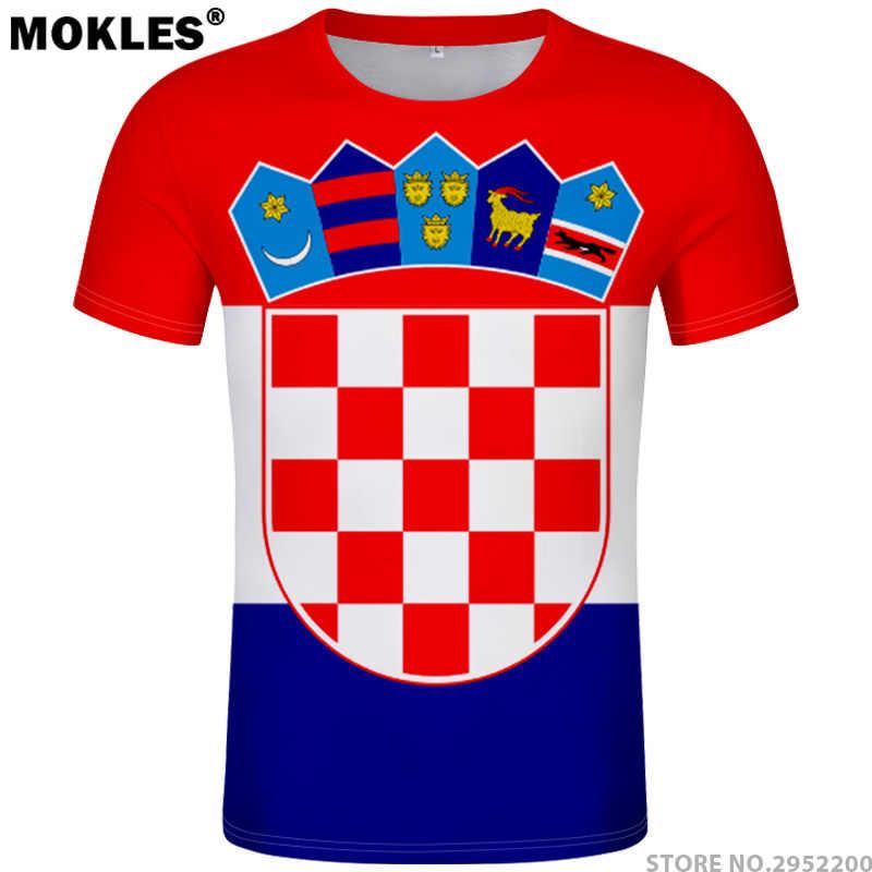 6feaa2d4448 Detail Feedback Questions about CROATIA t shirt diy free custom name number  hrv t shirt nation flag croatian country hrvatska republic print photo logo  ...