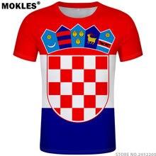 e932ea216add CROATIA t shirt diy free custom name number hrv t-shirt nation flag croatian  country hrvatska republic print photo logo clothing