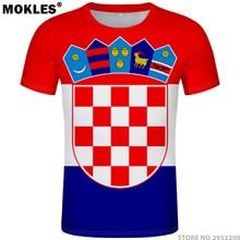 49ba762cc CROATIA t shirt diy free custom name number hrv t-shirt nation flag croatian  country