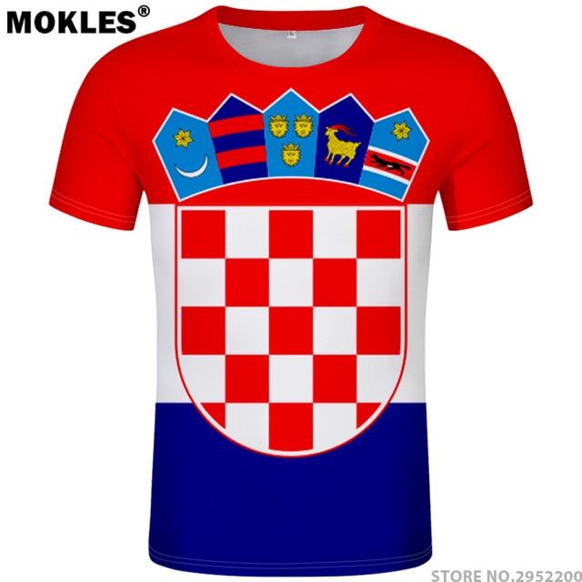 9d6f7666e26 CROATIA t shirt diy free custom name number hrv t-shirt nation flag croatian  country hrvatska republic print photo logo clothing