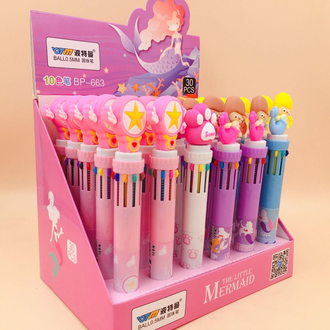 30 pçs caixa coreano multi cores bonito