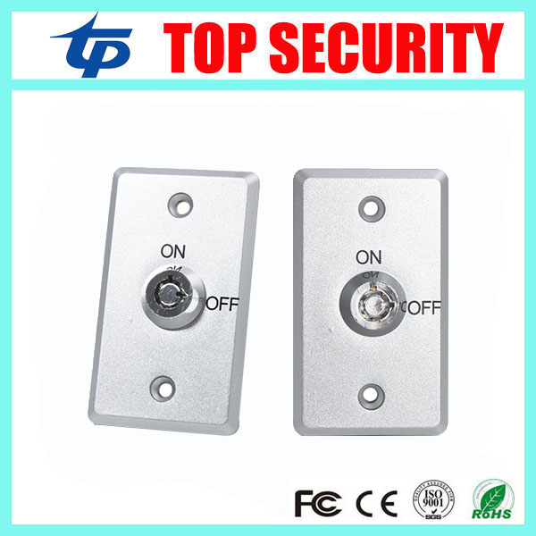 Good Quality 10pcs A Lot Emergency Exit Button Push Switch Release Button Zinc Alloy Exit Key Button For Access Control System