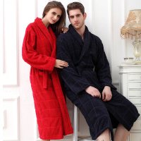 Hilift 100 Cotton Bathrobes Toweled Lovers Cotton Bathrobe Thickening Robe