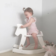 Trojan Horse High Quality Rubber Wood Child Chair Environmental Paint White Pink Black