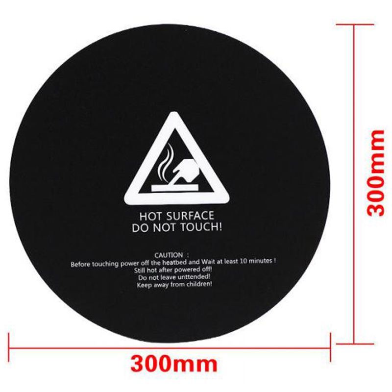 5 pcs circular diameter 300mm platform grit sticker hot bed anti edge Print Build Plate Tape for 3D printer accessories|3D Printer Parts & Accessories| |  - title=